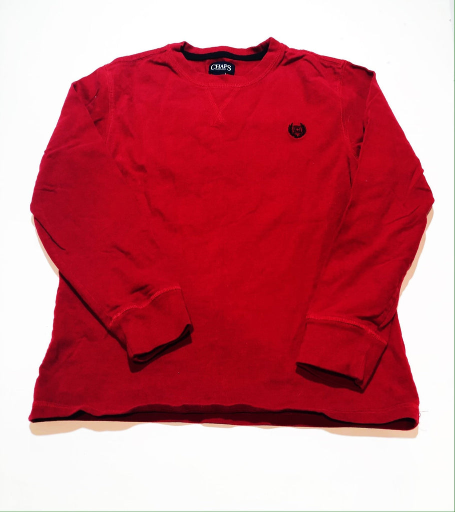 Chaps top - red- size M (11-12)-Fresh Kids Inc.
