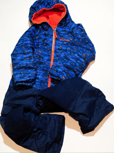 Columbia snow suit one-piece fleece-lined size 4