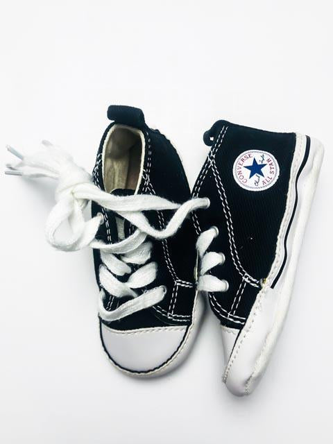 Converse black high tops soft sole size 4-Fresh Kids Inc.
