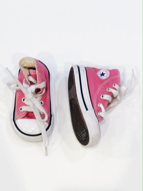 Converse high tops pink size 3