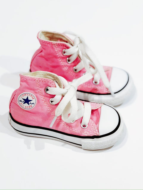 Converse high tops pink size 4