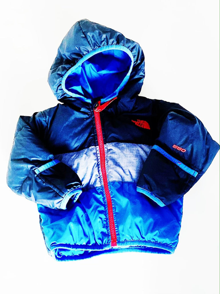 Copy of North Face down jacket reversible 6-12m-Fresh Kids Inc.
