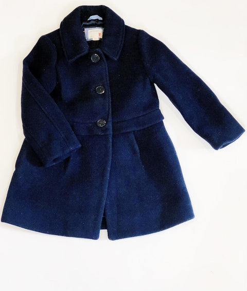 Crewcuts coat navy size 4-5