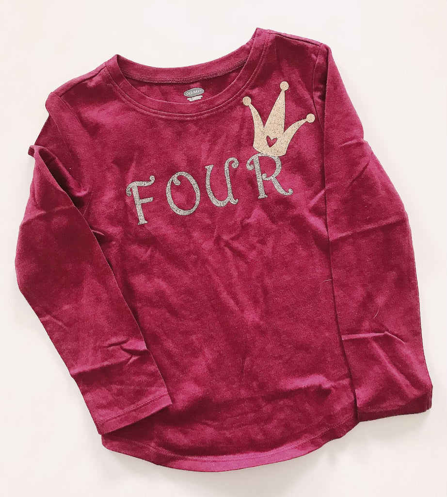 Old Navy long sleeve T shirt burgundy 5 T-Fresh Kids Inc.