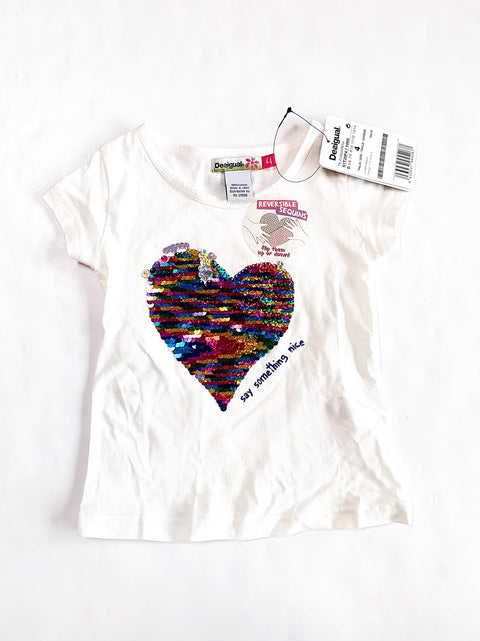 Desigual top size 4 nwt-Fresh Kids Inc.