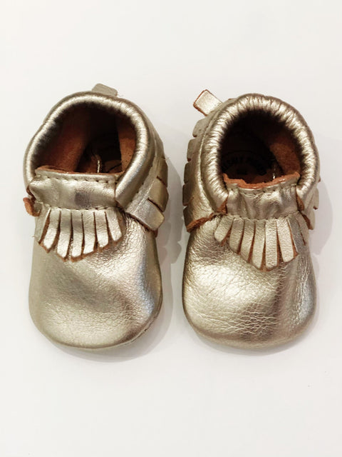 Freshly Picked moccasins gold size 0