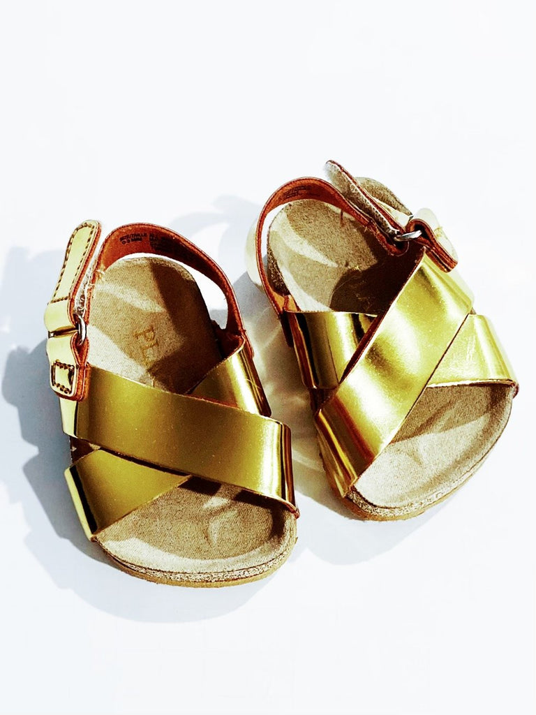 G Gold Sandals 0-3m-Fresh Kids Inc.