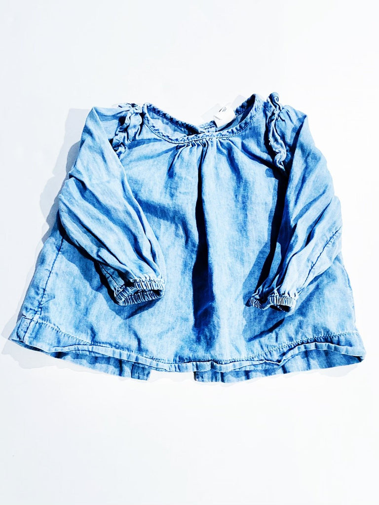 Gap chambray top 6-12m-Fresh Kids Inc.