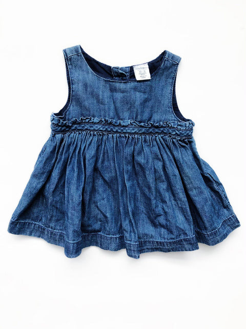 Gap denim dress 0-3m