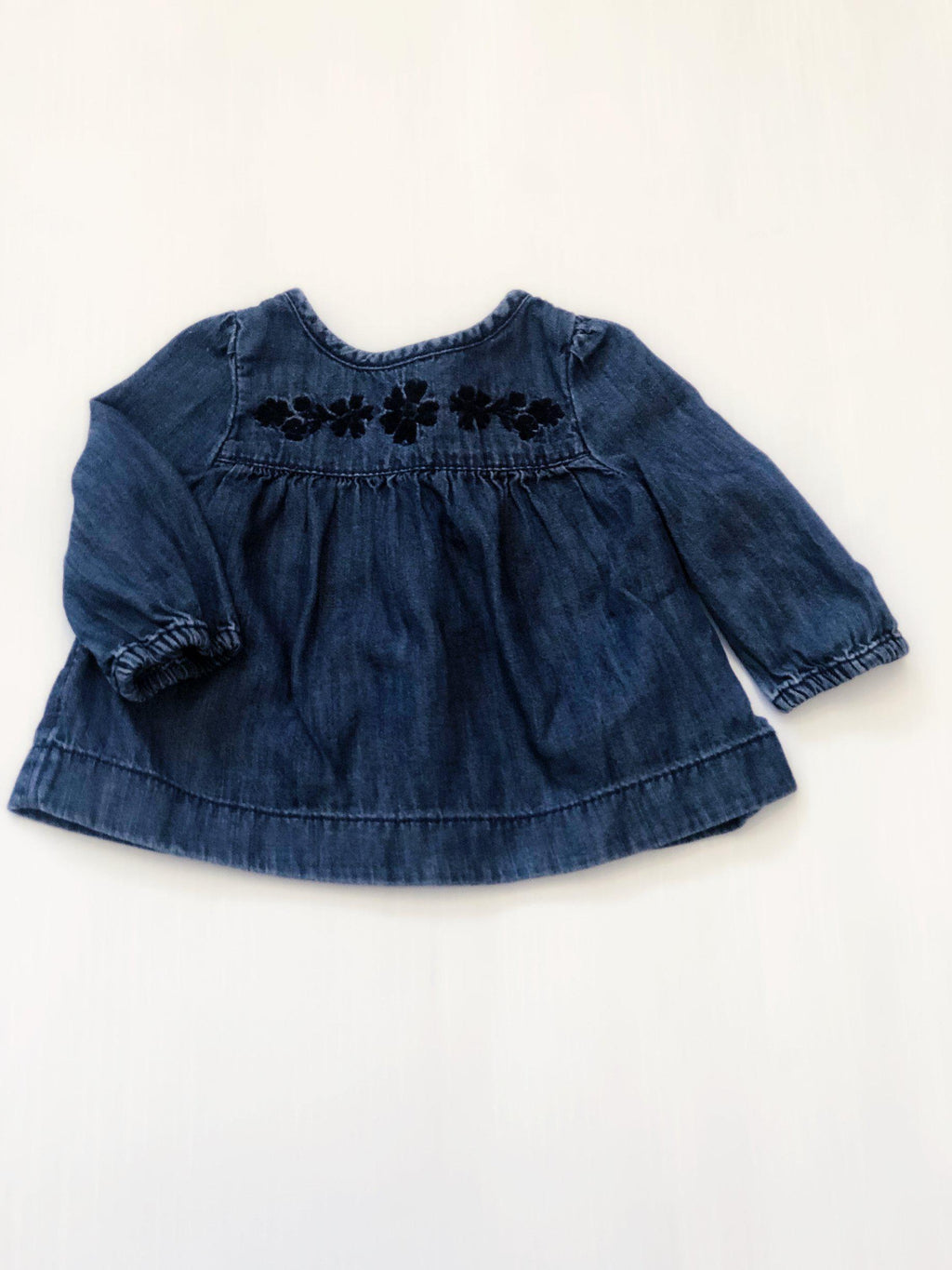 Gap denim embroidered top 0-3m