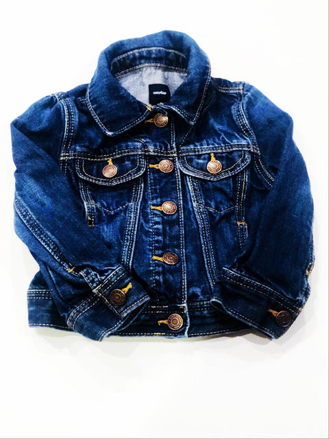 Gap denim jacket snap-up size 2