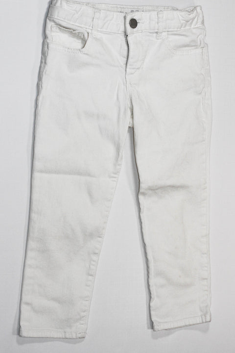Gap jeans white cropped size 8-Fresh Kids Inc.