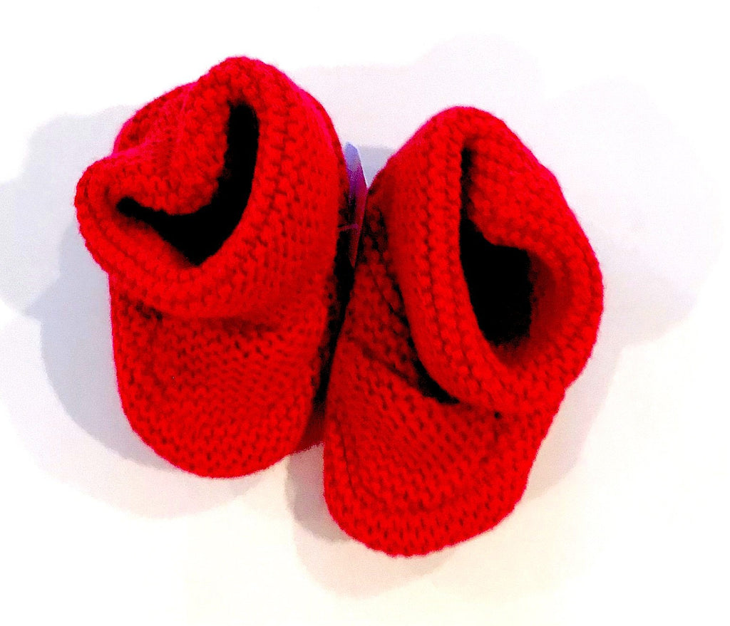 Gap knit booties - red - 3-6m BRAND NEW WITH TAGS-Fresh Kids Inc.