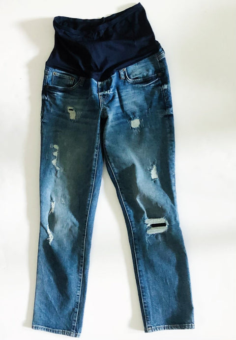 Gap Maternity Best Girlfriend Distressed Jeans - size 26r