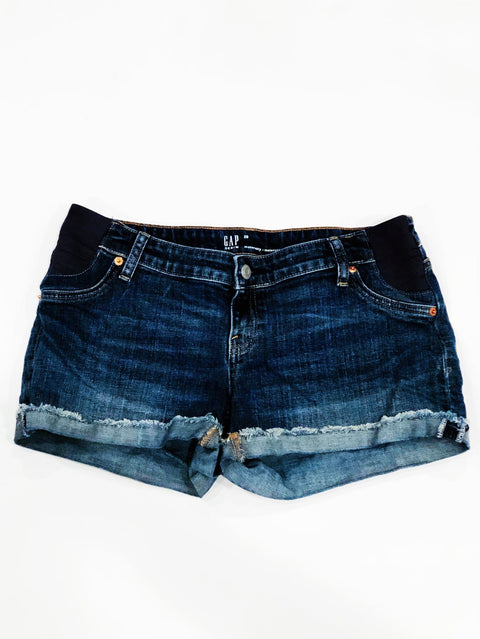 Gap Maternity Jean Shorts Rolled Fray-hem - size 29