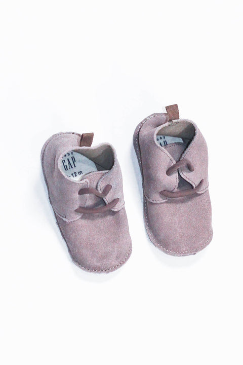 Gap moccs grey 6-12m (size 2.5-4)-Fresh Kids Inc.