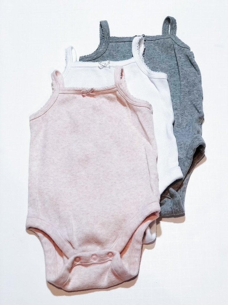 Gap onesies ribbed tank (x3) 3-6m