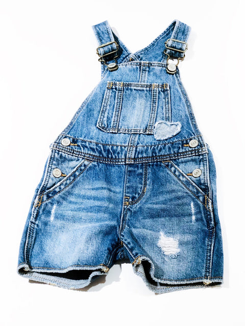 Gap shorts denim overalls 18-24m