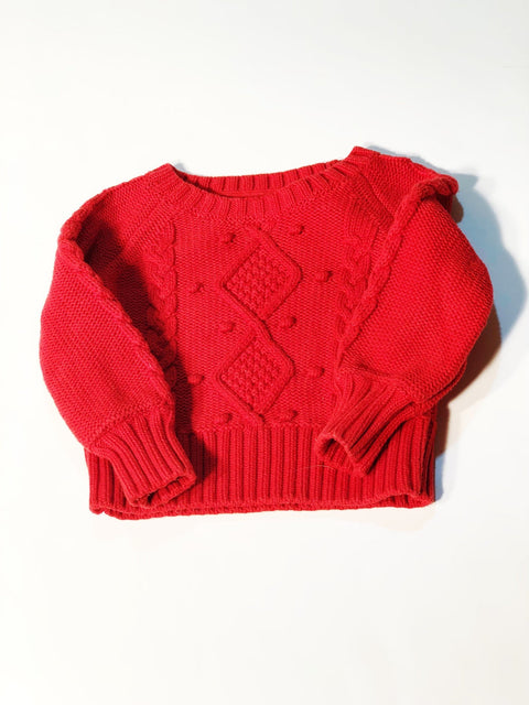 Gap top knit red size 2