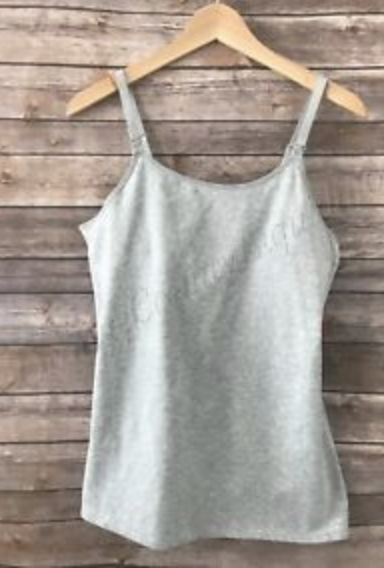 Gillian & O'Malley grey nursing tank size S