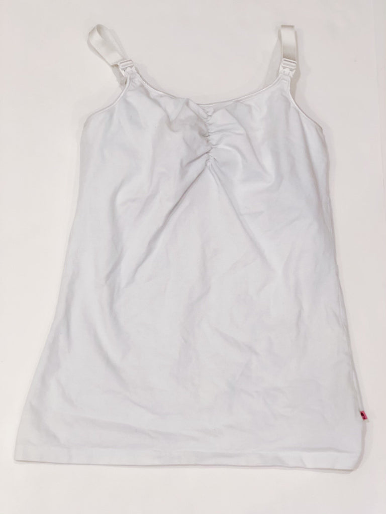 Glamourmom nursing tank white - small