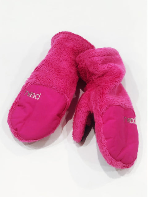 Head mittens fleece pink xs