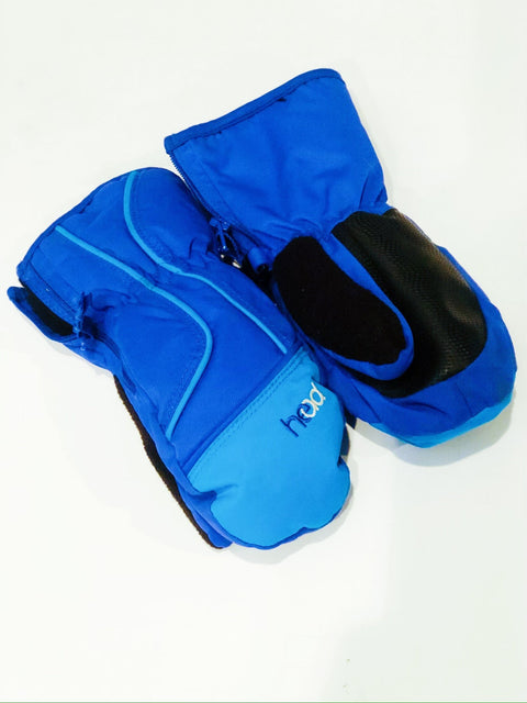 Head nylon mitts blue fleece lined sz xs