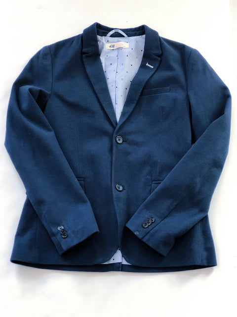 H&M blazer - blue - size 11-12-Fresh Kids Inc.