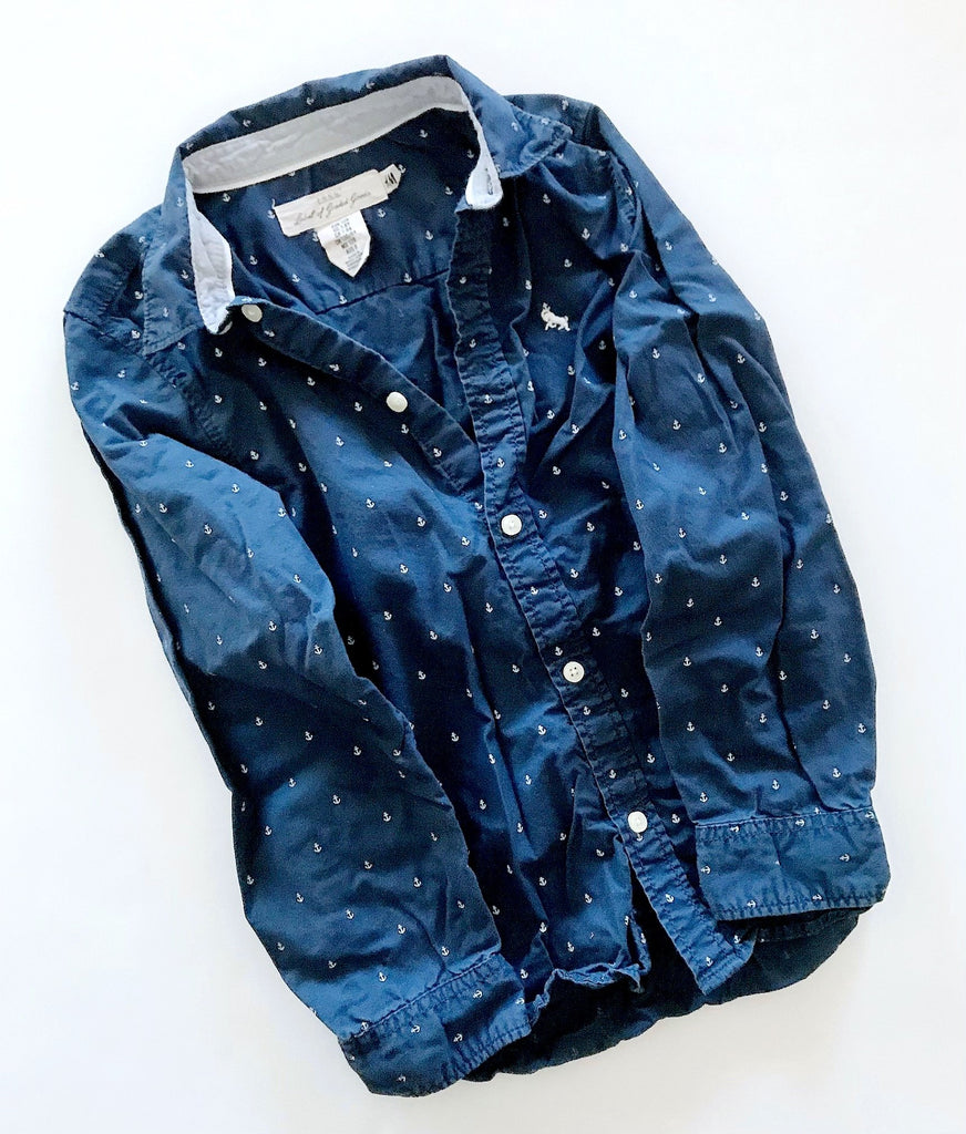 H&M button-up size 7-8-Fresh Kids Inc.