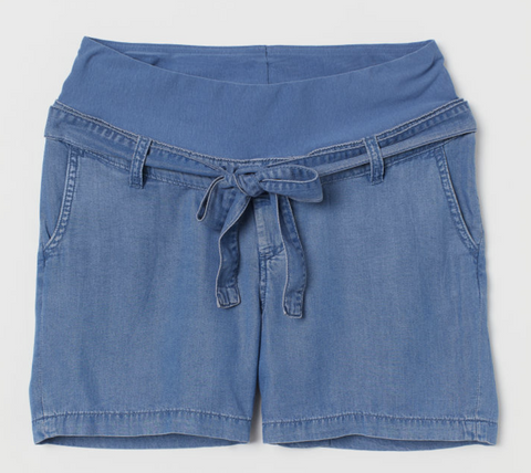 H&M Mama chambray shorts - size US 8