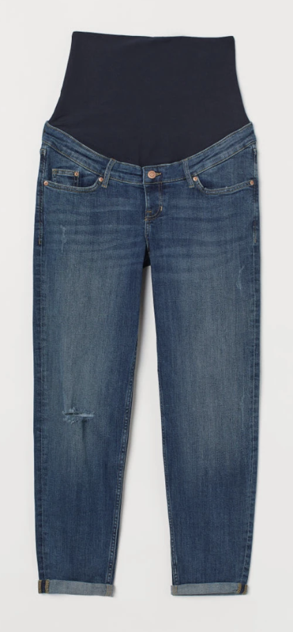H&M Mama Jeans Boyfriend -distressed- size 6 US-Fresh Kids Inc.