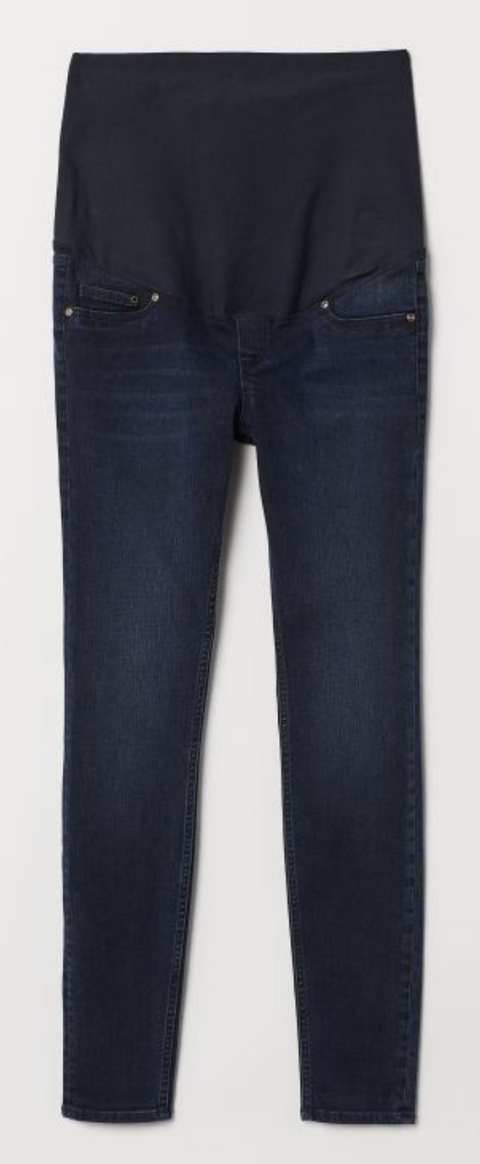 H&M Mama Jeans Skinny - dark denim blue - size 6 US-Fresh Kids Inc.