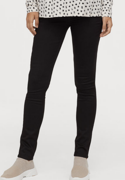 H&M Mama maternity jeans true black skinny - size 8-Fresh Kids Inc.