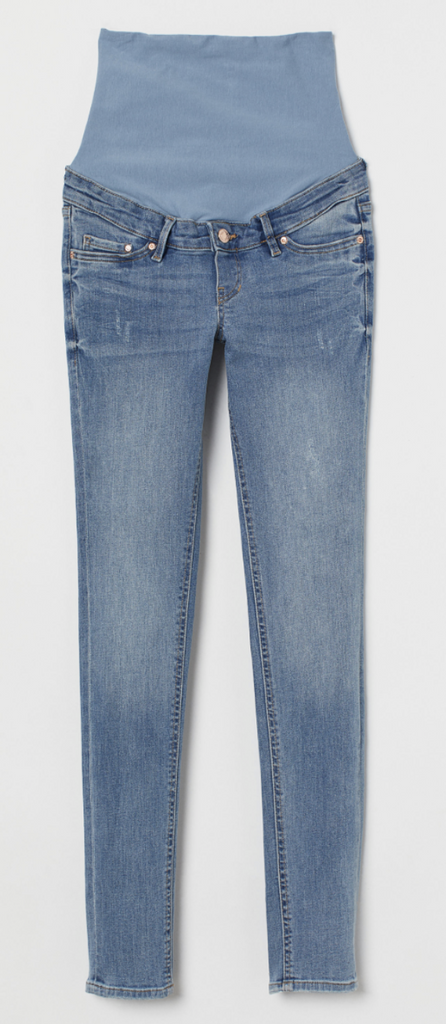 H&M Mama Maternity Skinny Light Blue Jeans - size 6 US-Fresh Kids Inc.
