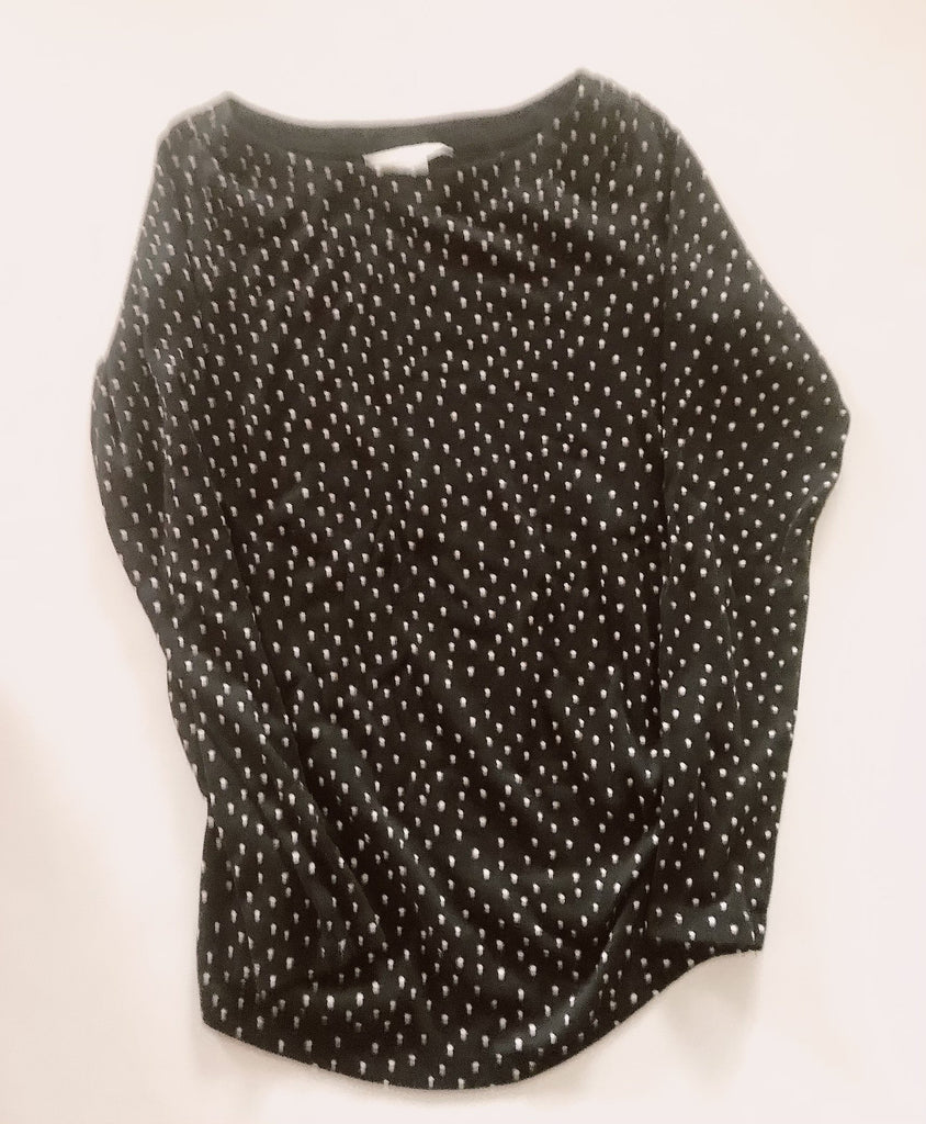 H & M Mama Maternity top navy polka dots S-Fresh Kids Inc.