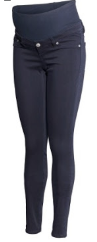 H&M Mama skinny legging trousers - navy - size 12-Fresh Kids Inc.