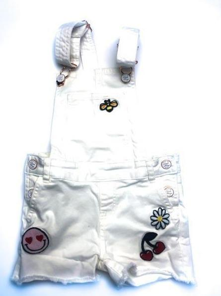 H&M white denim short overalls 5-6Y-Fresh Kids Inc.