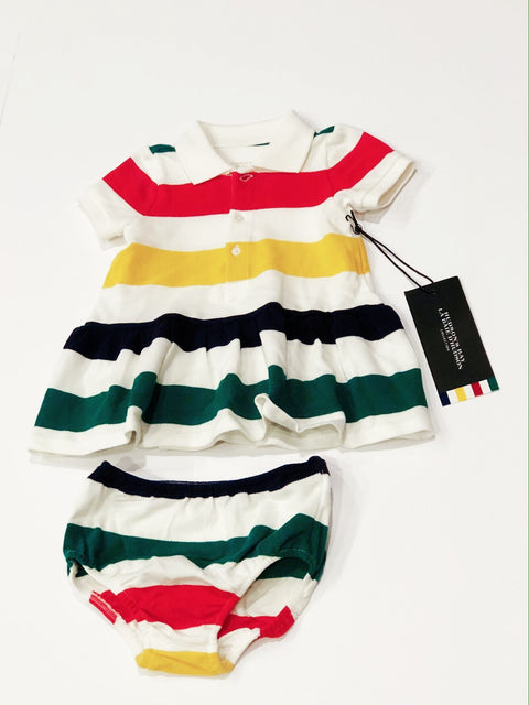 Hudson's Bay Company dress & bloomers 6-12m brand new