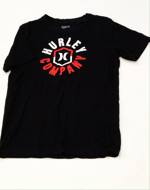 Hurley top - black tee - size medium (12)-Fresh Kids Inc.