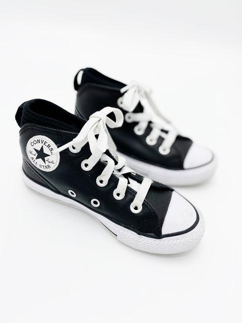 Converse black leather size 11