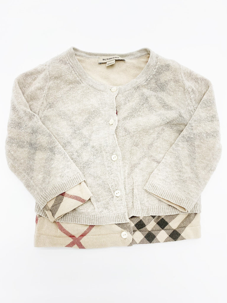 Burberry cardigan 18m