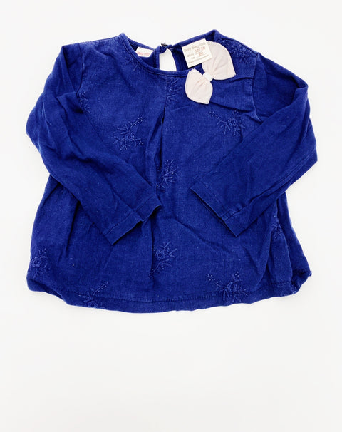 Zara navy top 12-18m