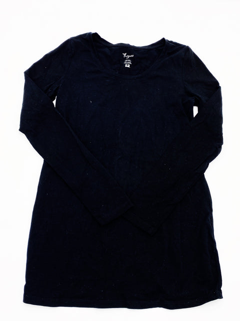 Thyme Maternity black long sleeve top - small