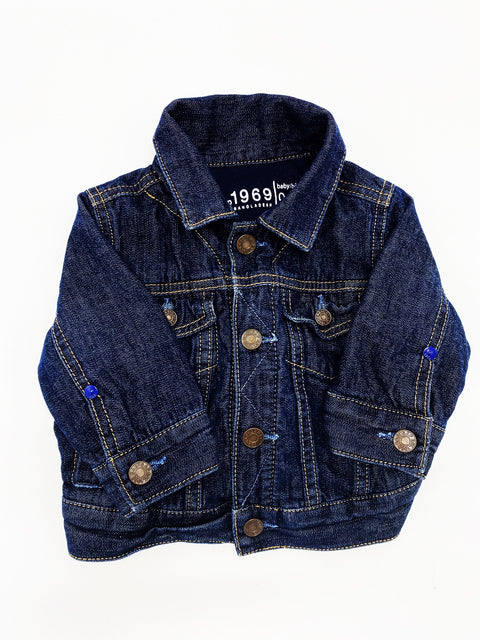 Gap 1969 lined jean jacket 0-6m