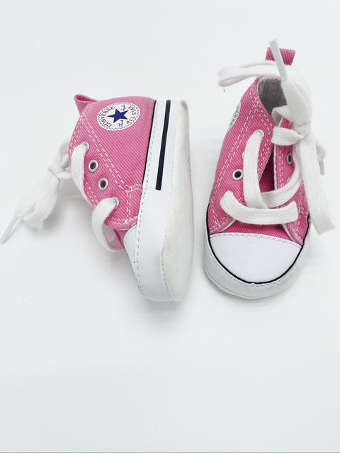 Converse pink soft sole shoes size 1