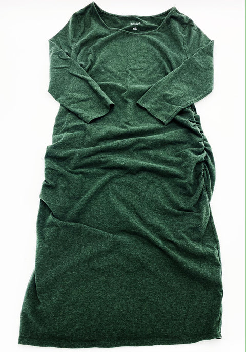 Isabel maternity dress forest green size medium
