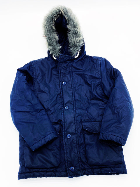 G navy winter coat size 7-8