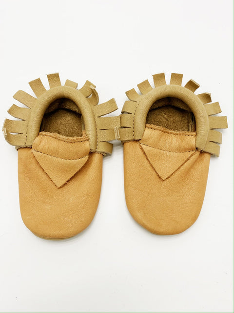 Beton leather Moccs 12-18m