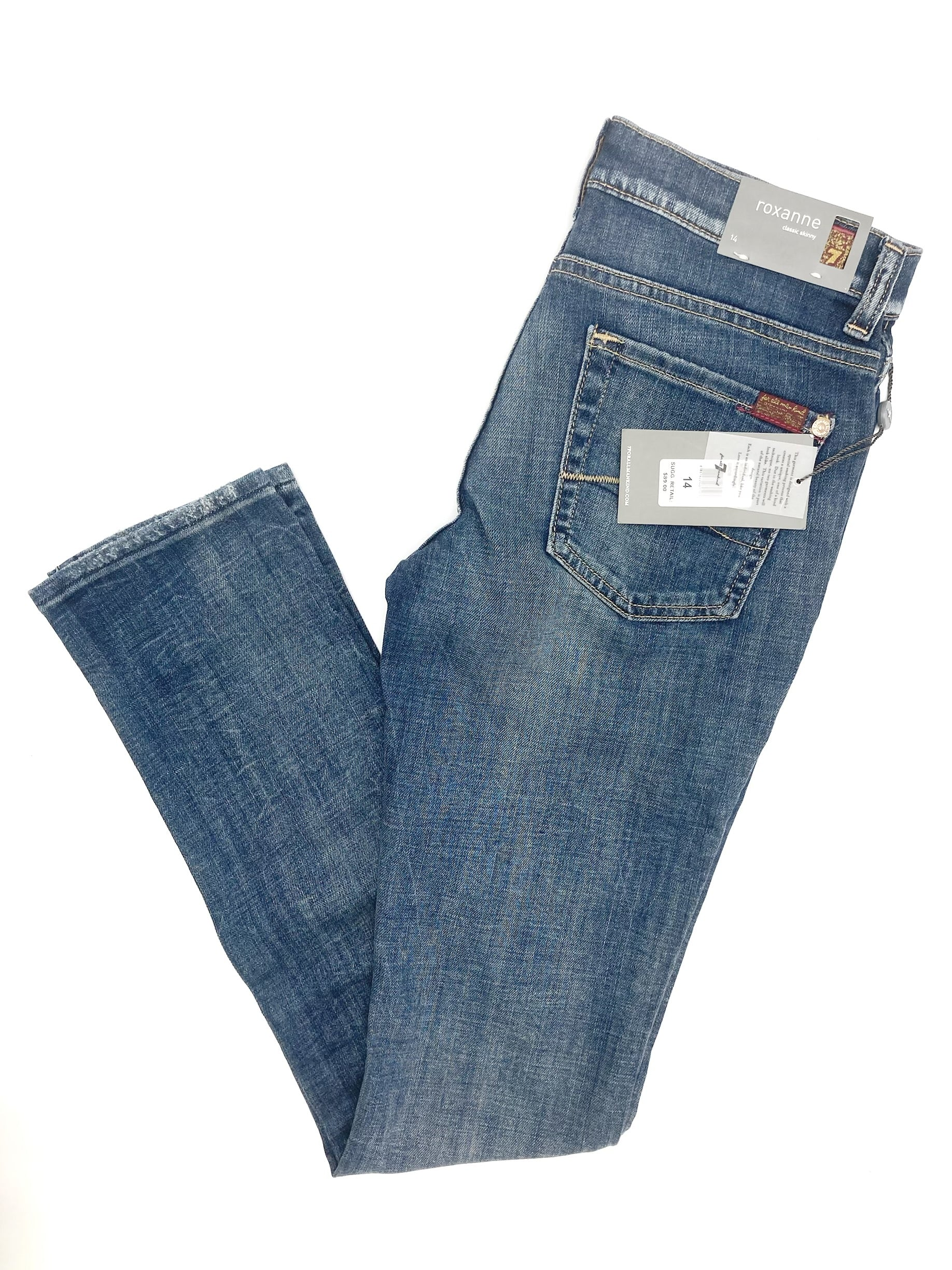 7 for all Mankind Roxanne skinny jeans - 14 NWT