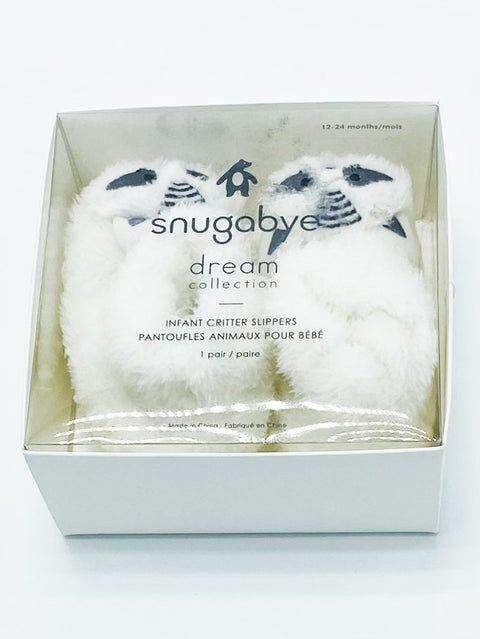 Snugabye Dream Collection infant critter slippers 12-24m BRAND NEW IN BOX